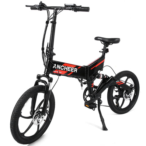 Ancheer 2018 Newest Folding Electric Bike with Removable 36V 8Ah LG Battery