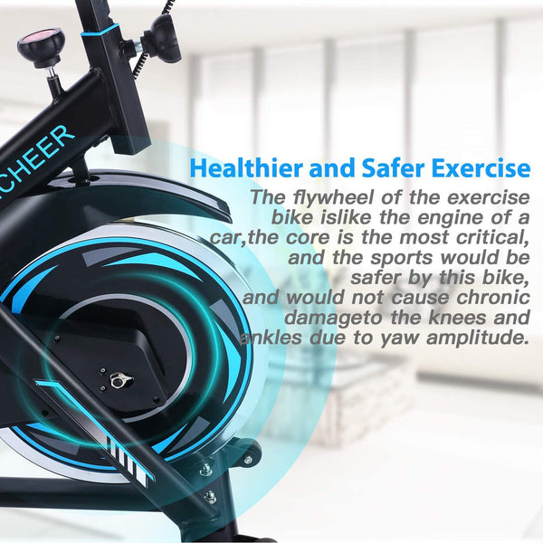 Ancheer 330 Lbs Weight Capacity- Indoor Cycling Bike with Tablet Holder and LCD Monitor