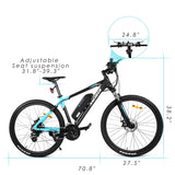 ANCHEER 27.5 Inch Wheel 350W Electric Mountain Bike with Removable 36V Battery