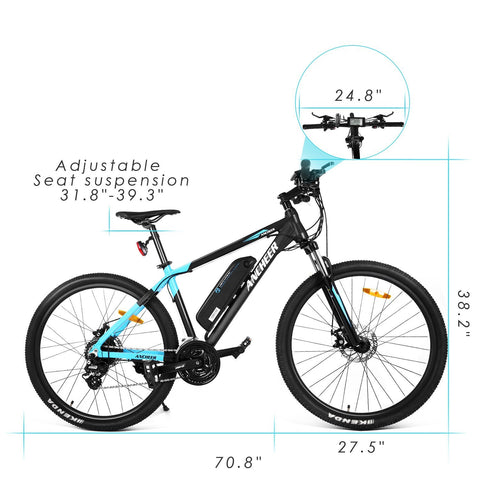 ANCHEER 2018 Newest Electric Mountain Bike 27.5''