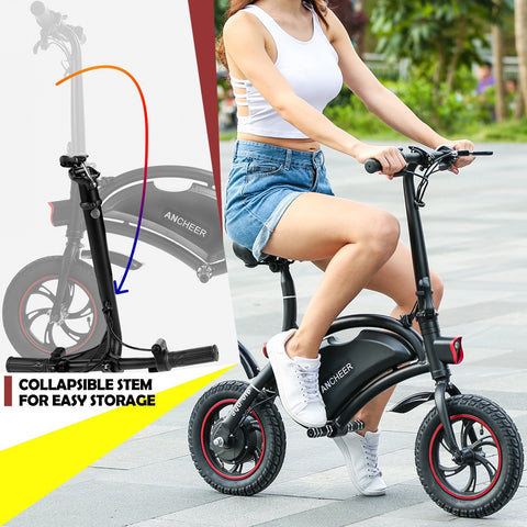 ANCHEER Folding Electric Bicycle E-Bike Waterproof Scooter