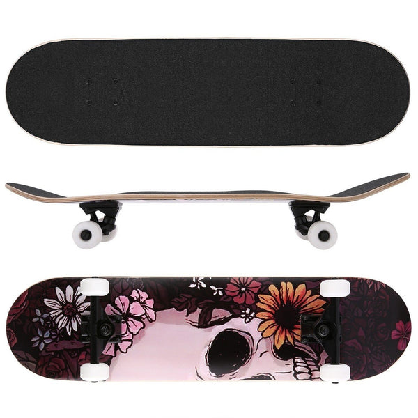 Ancheer 31'' Complete Skateboard with Four Backup Wheels, Storage Bag and Tool