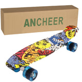 Ancheer 22 Inch Mini Cruiser Skateboard Retro Style