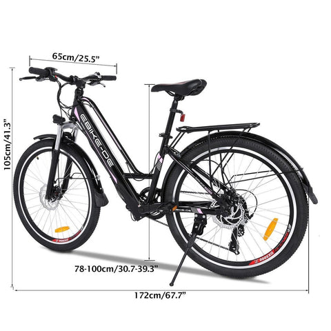 [Free Gloves]26 inch Woman Elegant City Electric Bike with Carrier