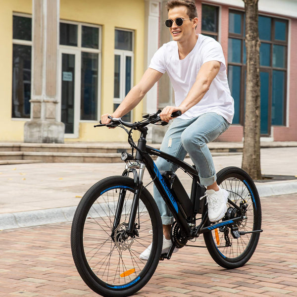ANCHEER 27.5 Inch Wheel 36V 250W Blue Spark Electric Mountain Bike with Removable 36V 10Ah Battery EU Plug