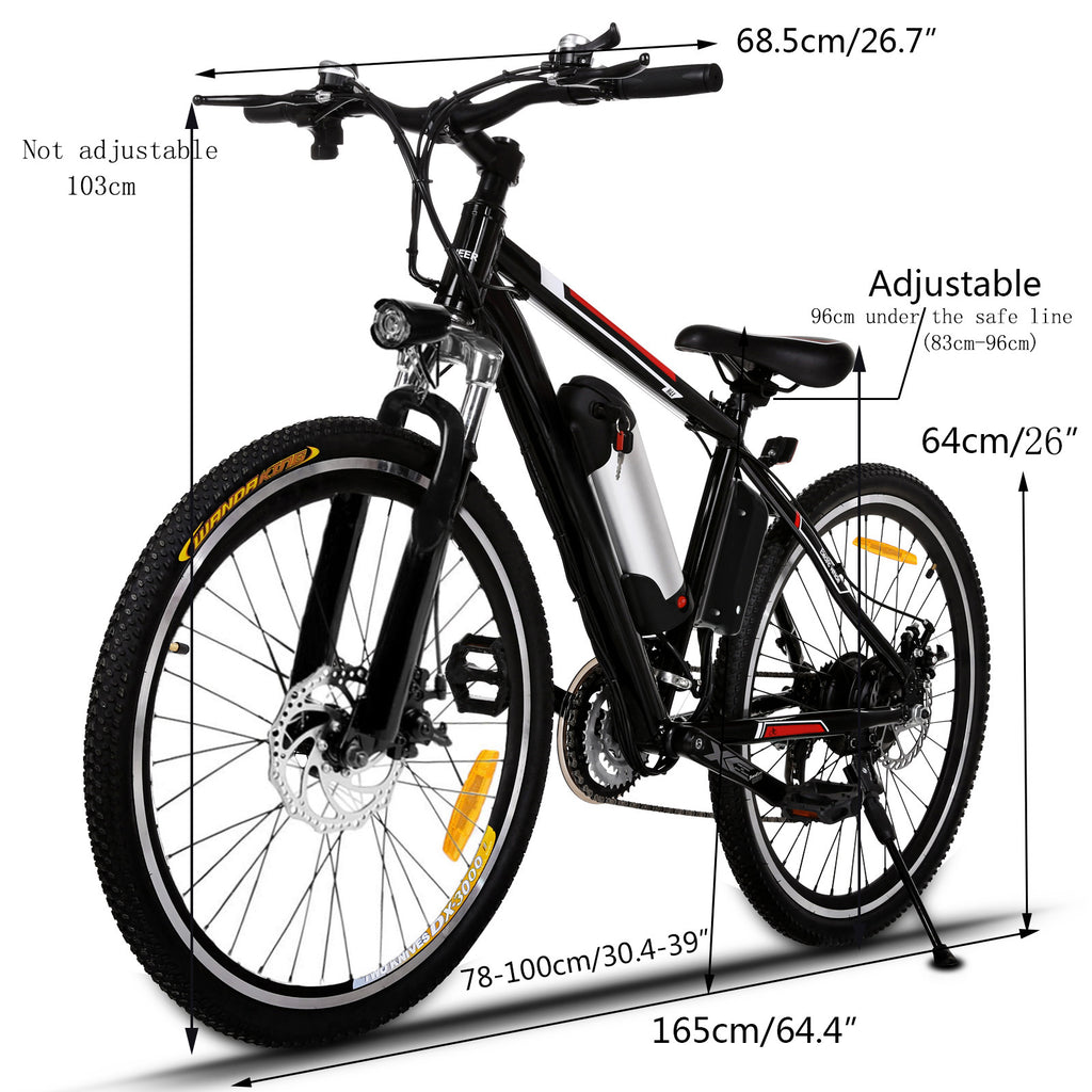 Ancheer Electric Mountain Bike With Lithium Ion Battery 250w Ancheer