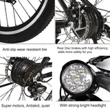 ANCHEER 26 Inch Wheel New Upgraded Electric Mountain Bike 250W with Removable 36V 12.5Ah Battery EU Plug