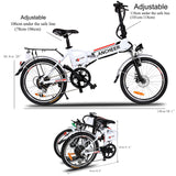 Ancheer 20'' Wheel Folding Electric City Bike