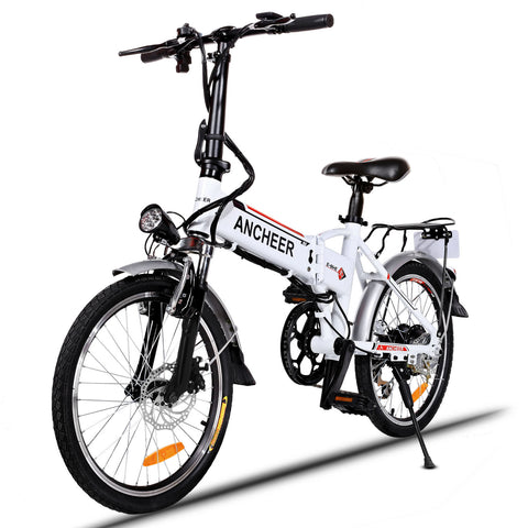 [Free Gloves]Ancheer 20'' Wheel Folding Electric City Bike