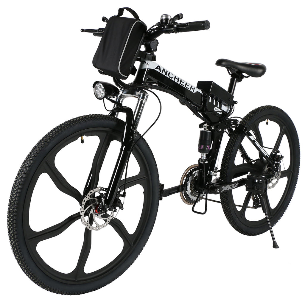 99839ad0147 ANCHEER 26 Inch Wheel Folding Electric Mountain Bike with Super Lightweight  Magnesium Alloy
