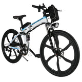 "[Free Gloves]ANCHEER Folding Electric Mountain Bike with 26"" Super Lightweight  Magnesium Alloy"