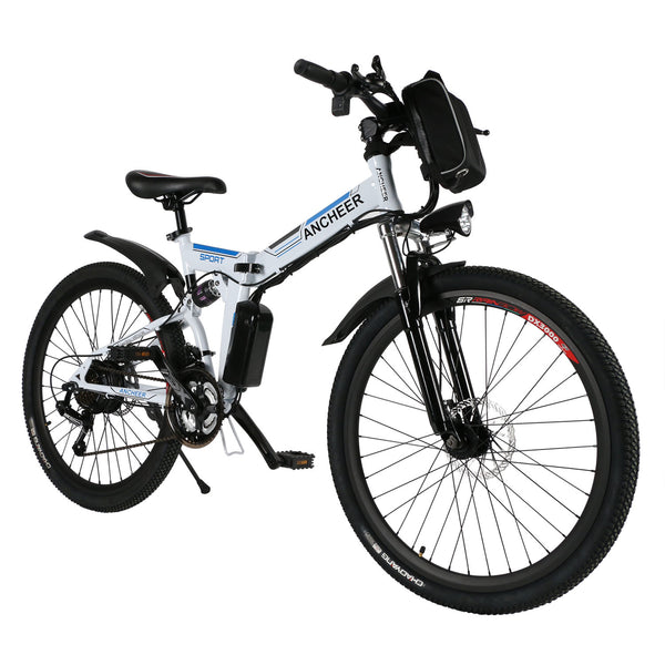ANCHEER 26 Inch Wheel Folding Electric Mountain Bike