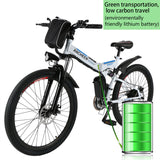 [Free Gloves]ANCHEER Folding Electric Mountain Bike with 26 Inch Wheel