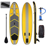 ANCHEER 10ft Inflatable Stand Up Paddle Board iSUP with Adjustable Paddle Backpack Hand Pump