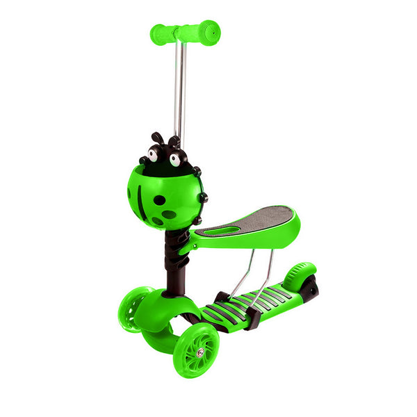 Ancheer Child Kids 3-Wheel Adjustable Height Kick Scooter with LED Light Up Wheels