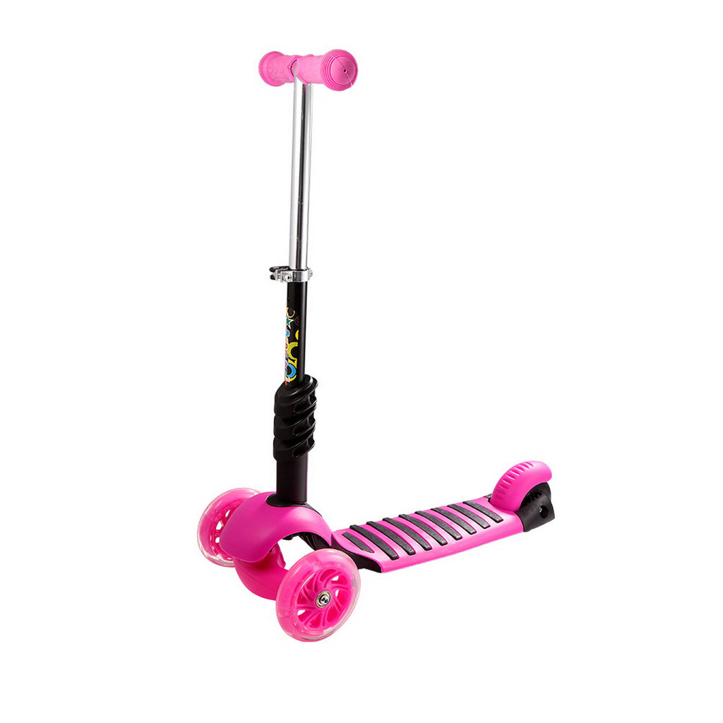 78345b705556 Ancheer Child Kids 3-Wheel Adjustable Height Kick Scooter with LED Light Up  Wheels