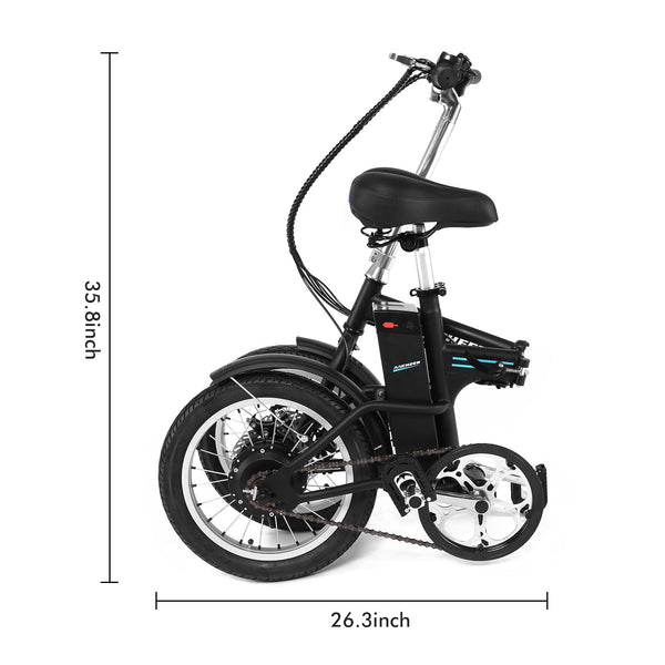 ANCHEER 16 Inch Wheel 250W Folding City Commuter Electric Bike