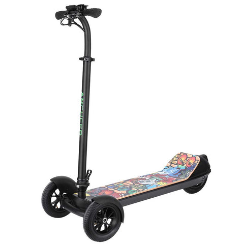 "Ancheer 3-Wheel Electric Scooter 8"" Wide Anti-Slide Deck"