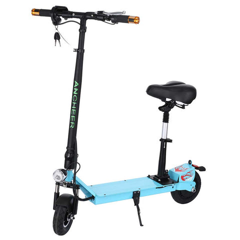 Ancheer E100 Electric Scooters with Seat and Key Start