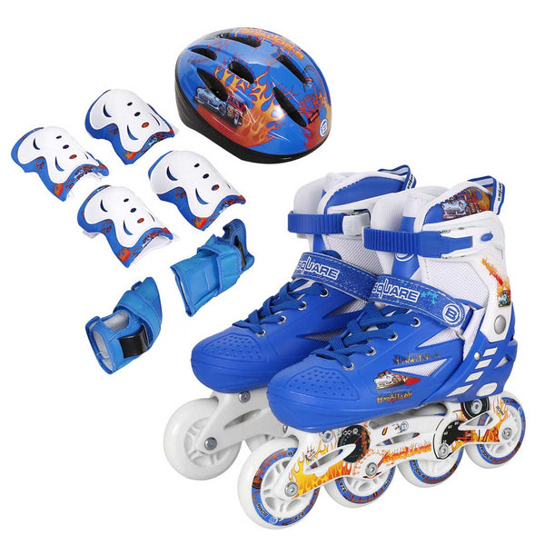 New Unisex Integral Steel Plastic Indoor Outdoor Roller Children Tracer Adjustable Inline Skate Set