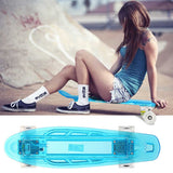 New Boys and Girls Full Light Up Deck LED Flash Generating Blasts Bright Colors Mini Skateboard Kit