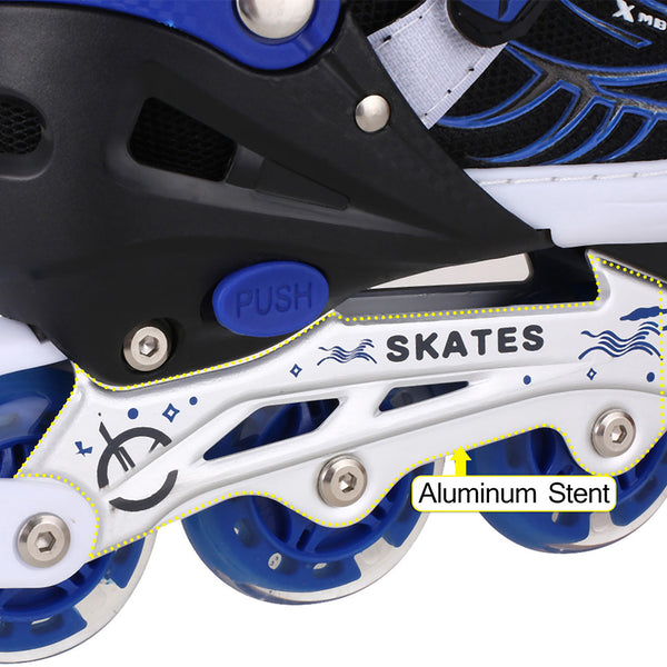 New Unisex PU Wheel PP Material Indoor Outdoor Roller Children Tracer Adjustable Inline Skate