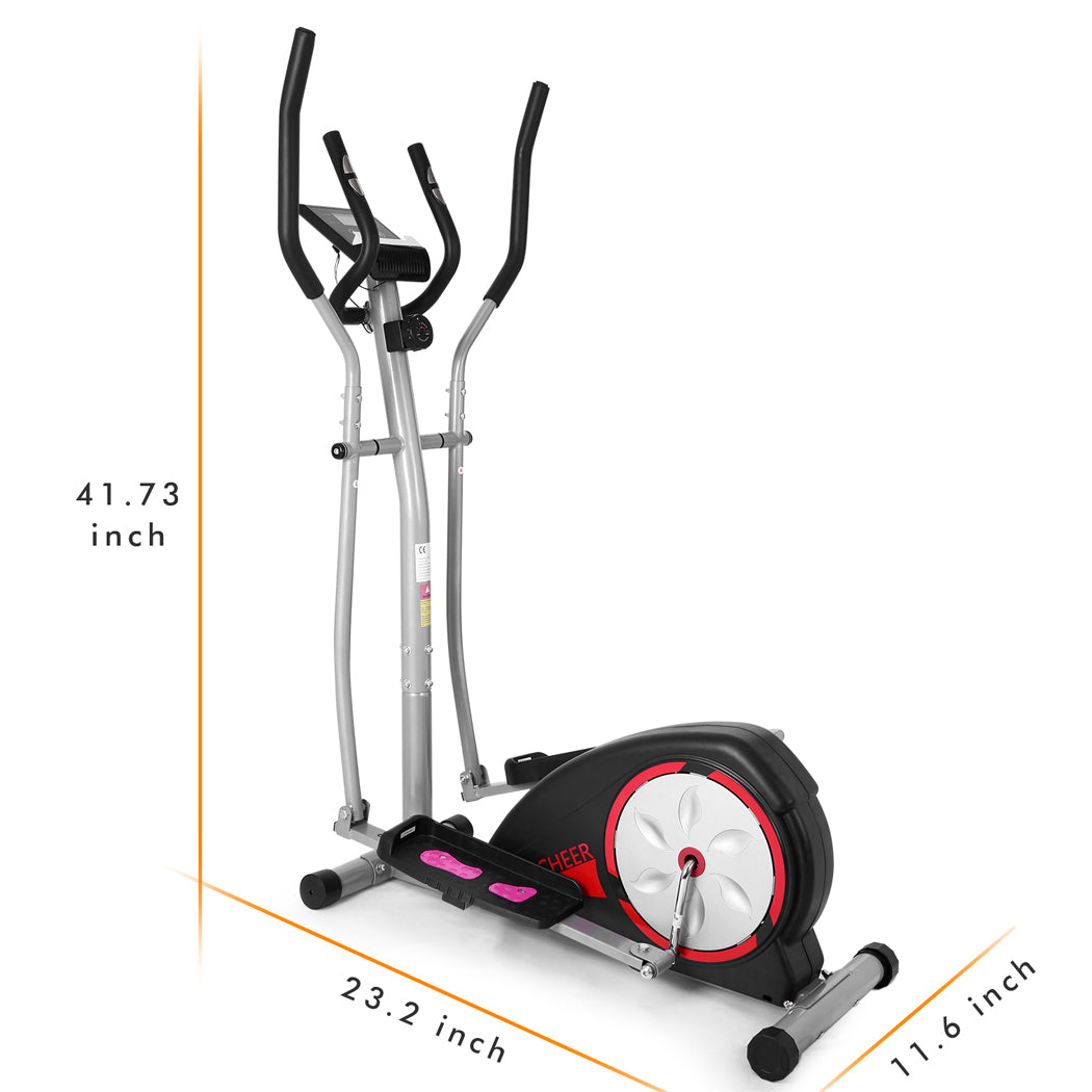 Magnetic Control Mute Elliptical Trainer With Lcd Monitor Home Office Ancheer