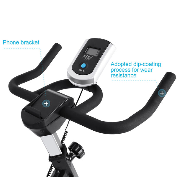 ANCHEER Indoor Cycling Bike with Heart Rate Monitor, APP Control