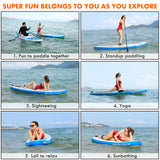 ANCHEER 10ft Inflatable Stand Up Paddle Board, iSUP Package w/Adjustable Paddle, Leash, Pump and Backpack