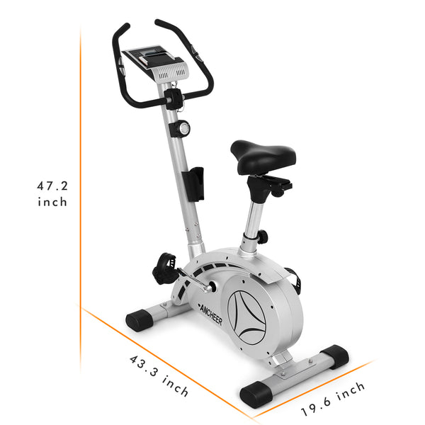 8 level Magnetic Tension Control Non-slip Pedals Folding Magnetic Upright Bike