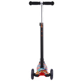 Ancheer Graffiti Pattern Kids Kick Scooter For Age 3-12