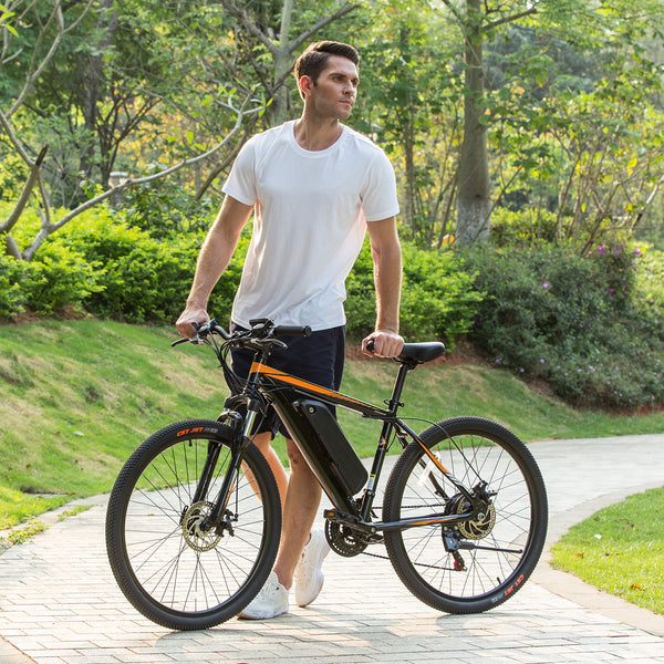 ANCHEER 26 Inch Wheel 350W Electric Mountain Bike with Removable 36V Battery