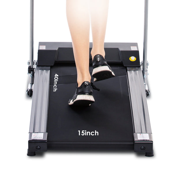 ANCHEER 1.5HP Folding Treadmill with Auto Stop Safety Function