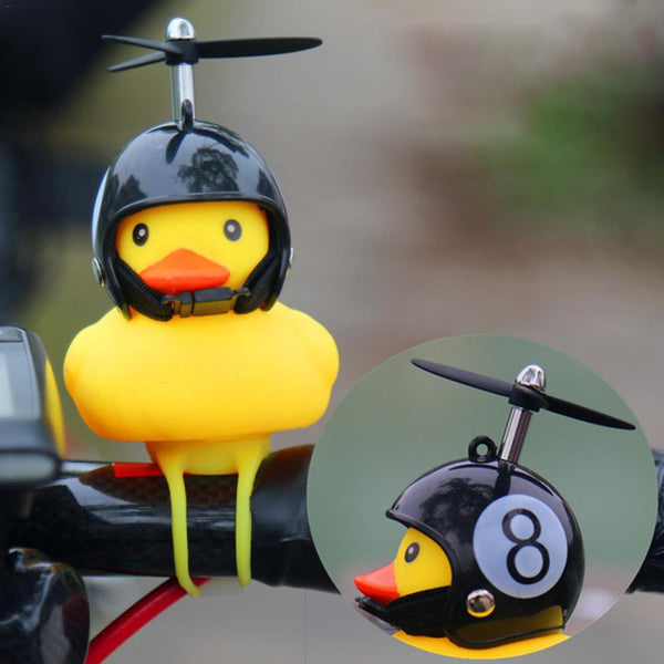 Cartoon Yellow Silica Gel Little Duck Shape Bicycle Bells Shining Mountain Bike Handlebar Duck