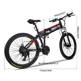 26 Inch Wheel 36V 8A Electric Mountain Bike EU Plug