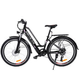 26 inch Woman Elegant City Electric Bike with Carrier EU Plug