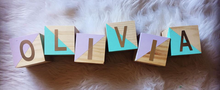 Wooden Name Blocks