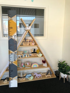 Wooden Height Chart Ruler