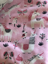 Pink unicorn blanket