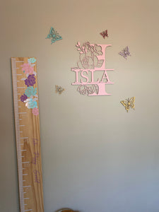 Wooden wall name
