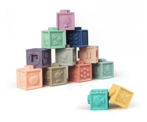 Silicone stacking blocks