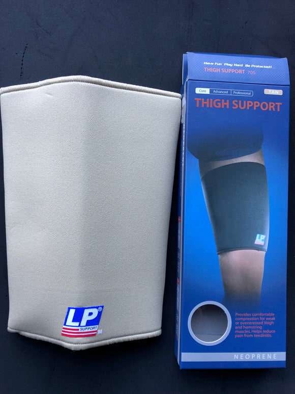 NEOPRENE THIGH BRACE SUPPORT LP TAN