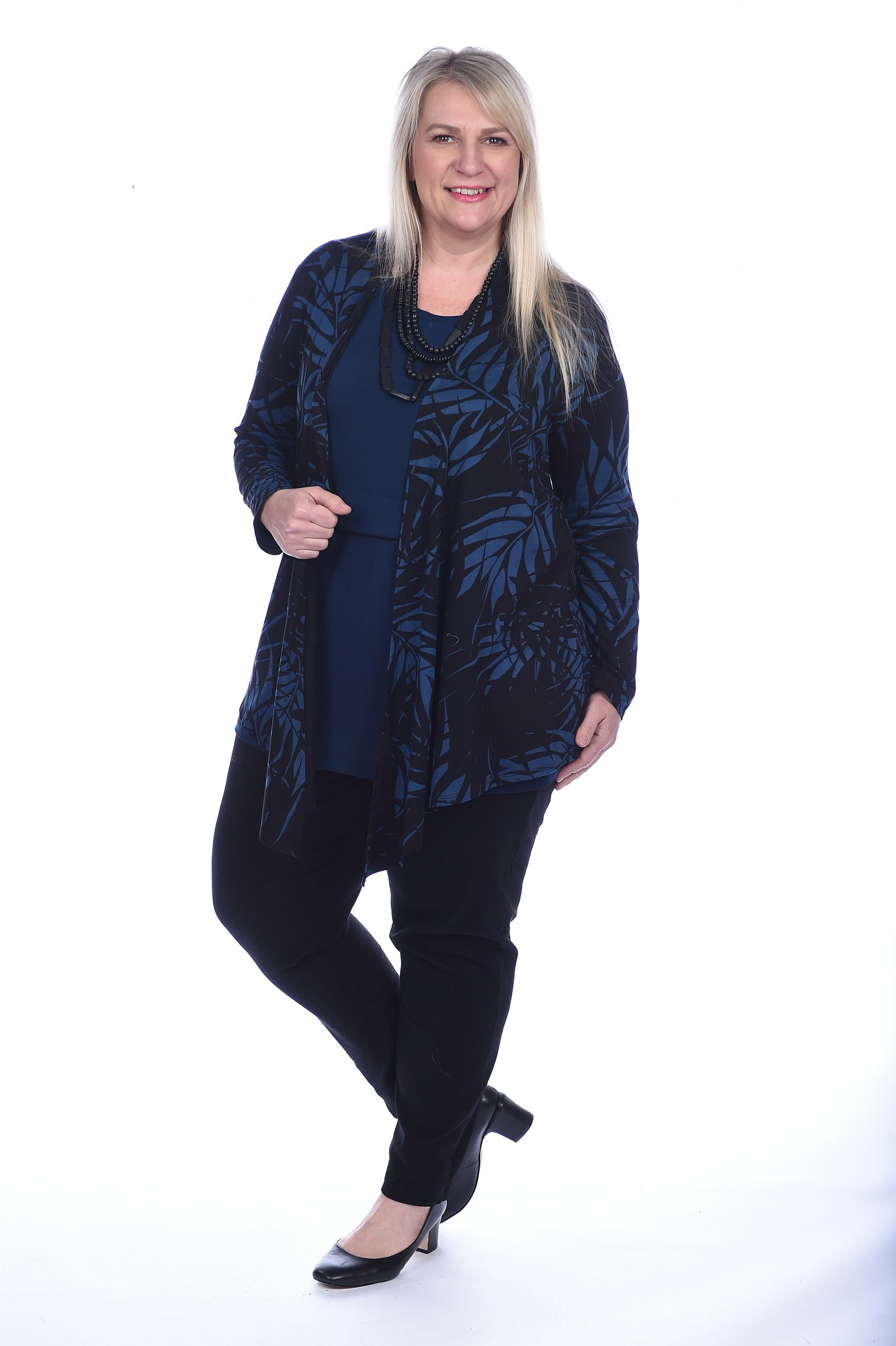Jacket Casual - Navy Palm - PRINT CLEARANCE