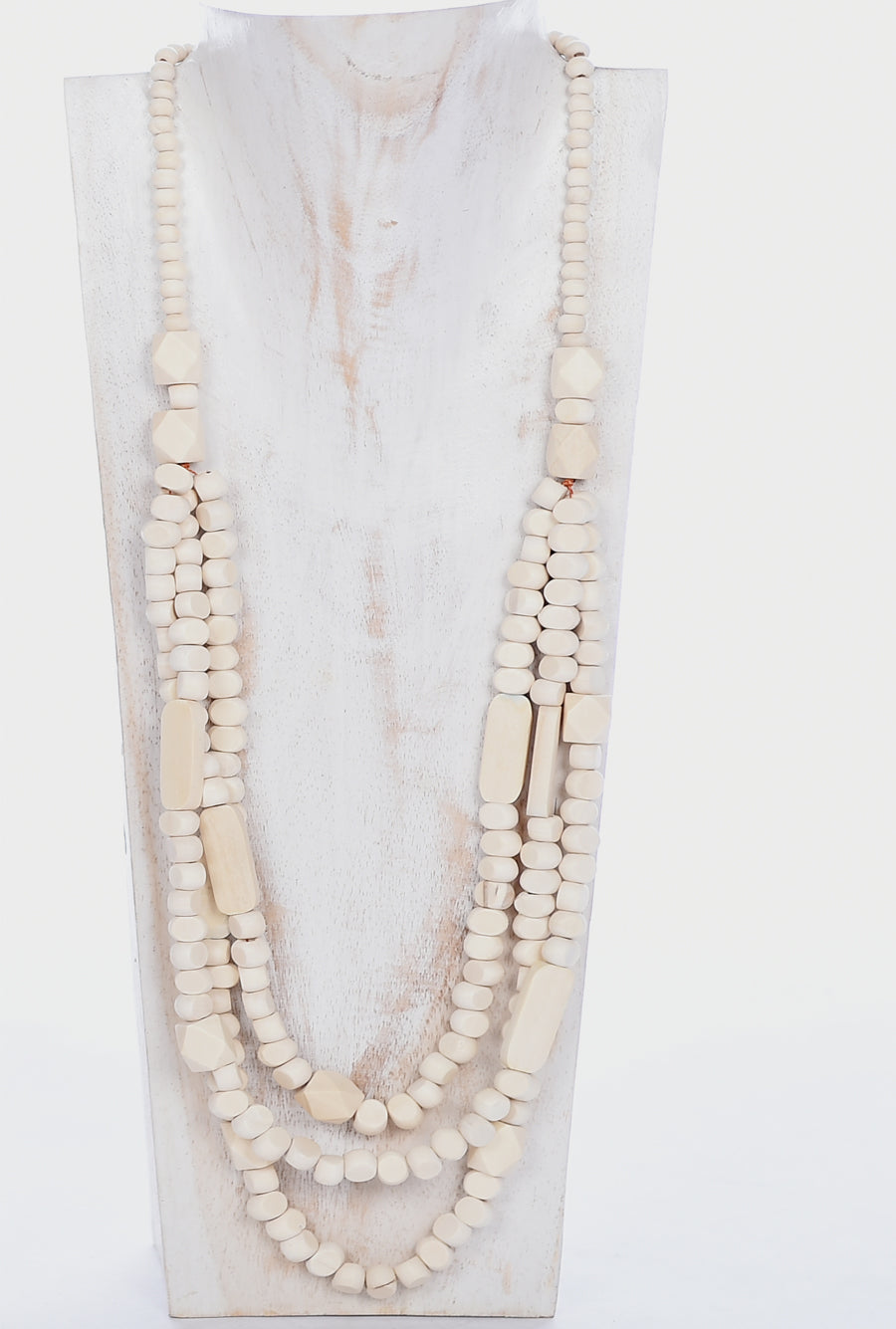 Necklace NBB041 - Neutral Natural Wood