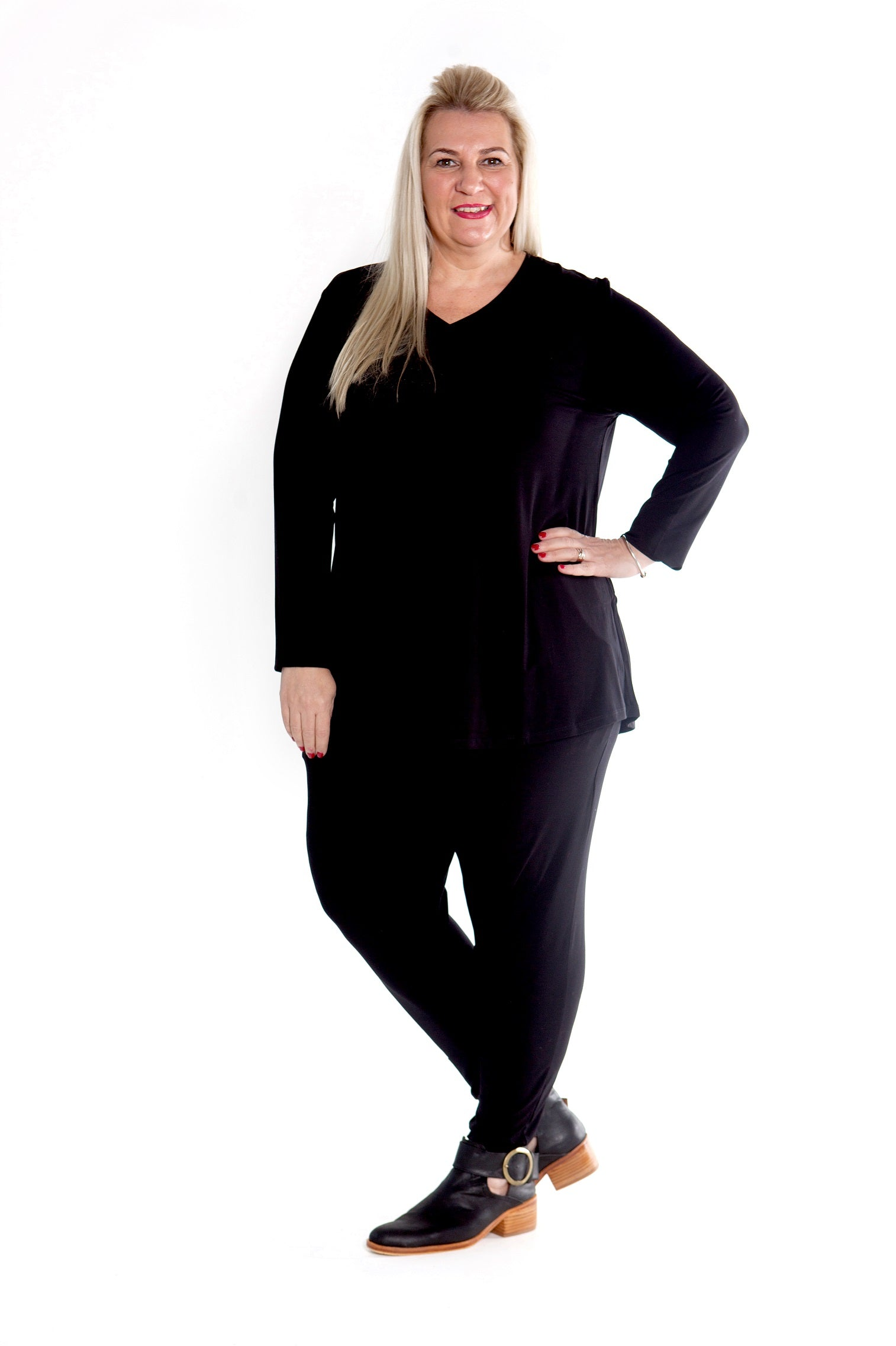 Top Cleo - Black Stretch