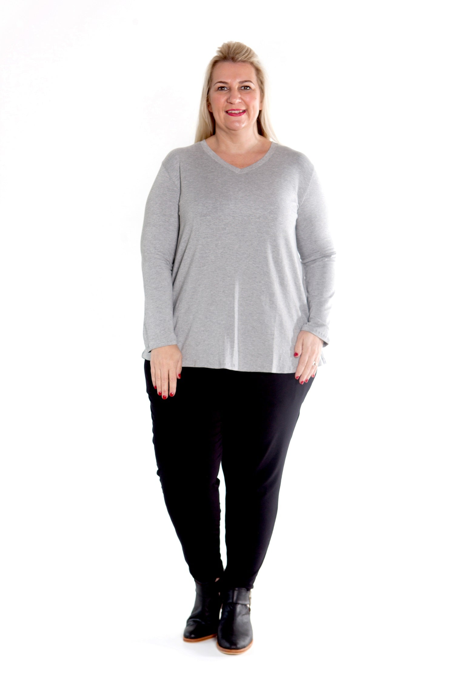 Top Cleo - Misty Grey Stretch