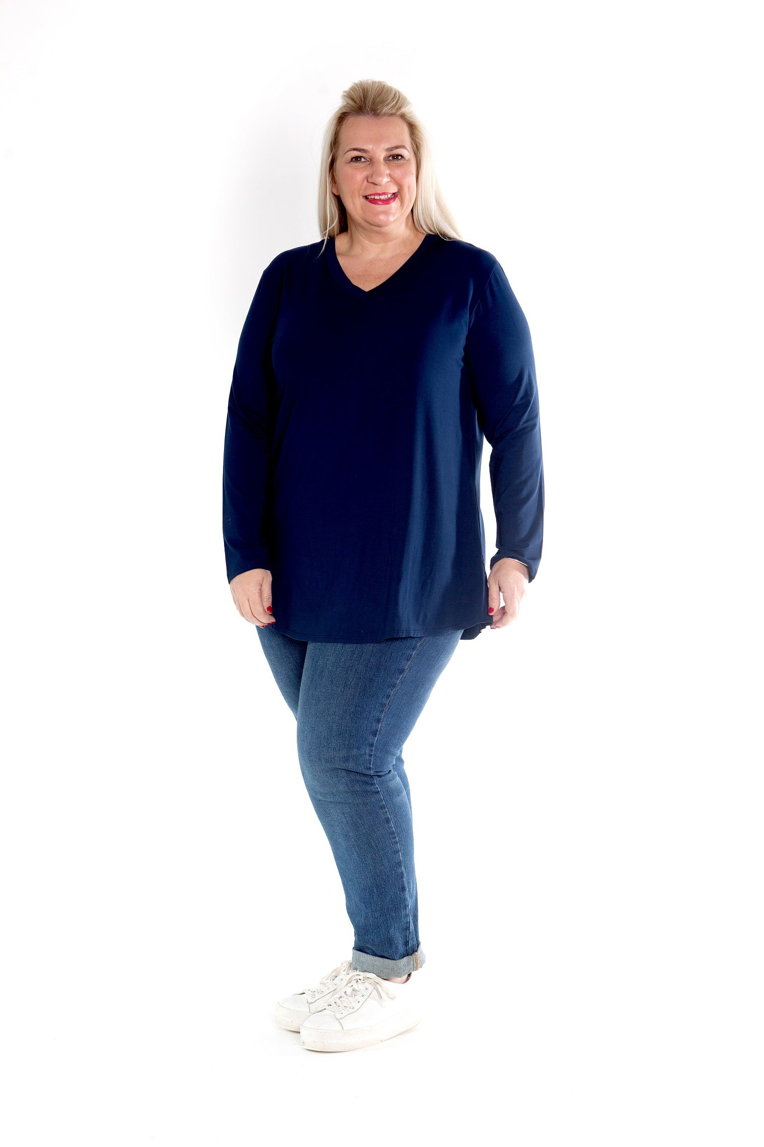 Top Cleo - Navy Stretch