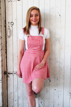 Red Gingham Pinafore