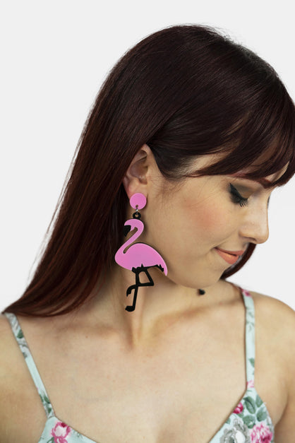 Dancing Flamingo Earrings