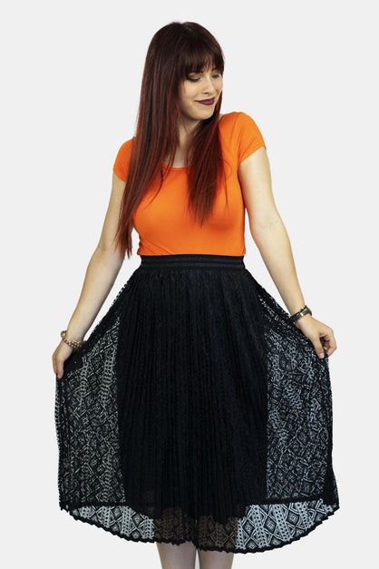 Maxi Skirt Aztec Lace